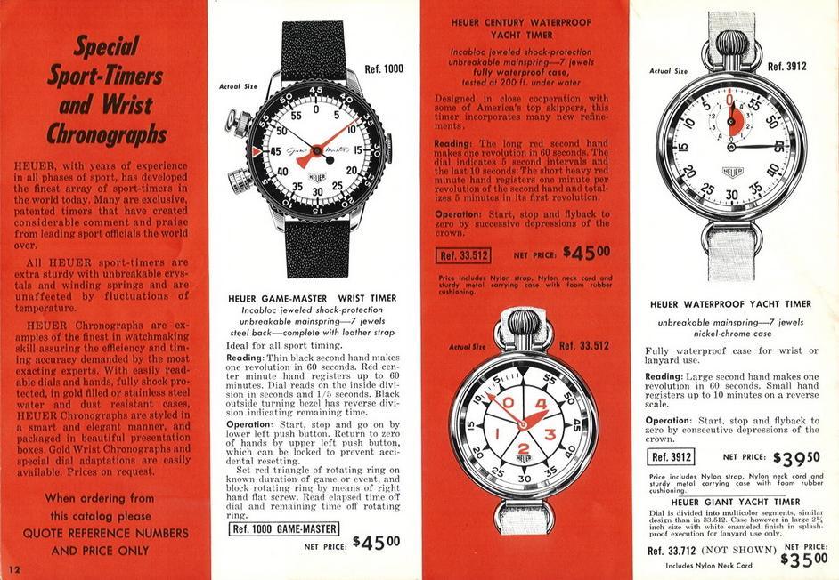 Heuer 1961-62 catalog P12