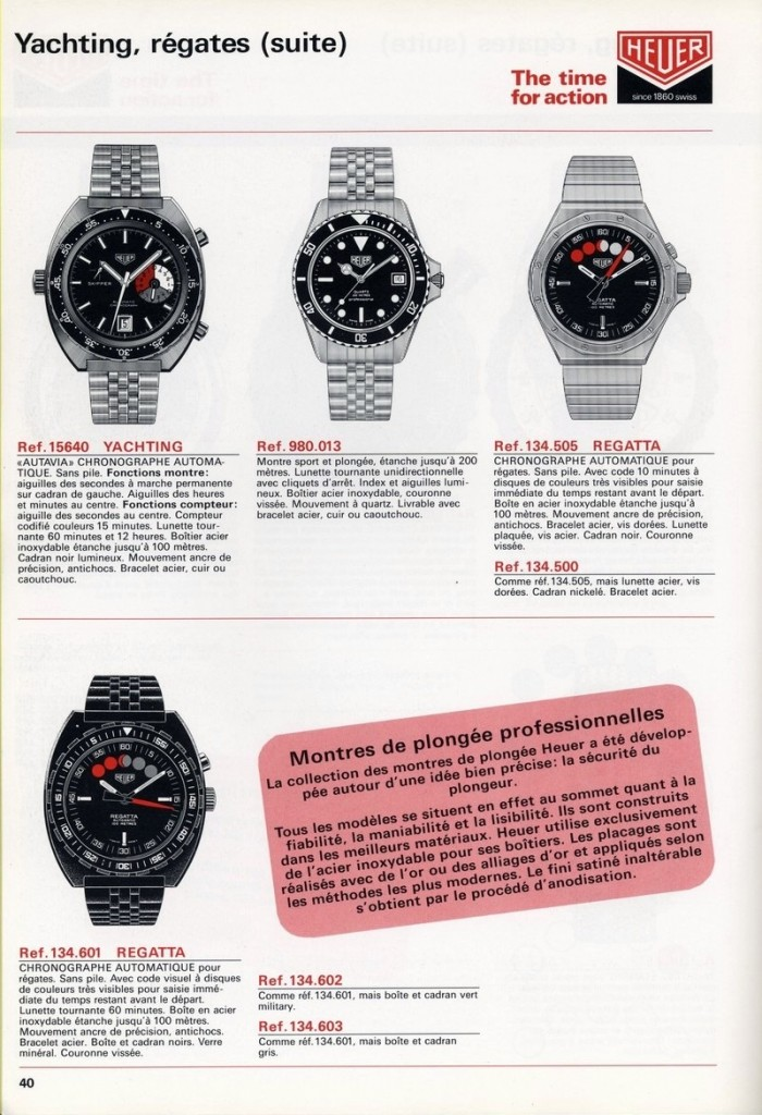 Heuer 1983 catalog French P40